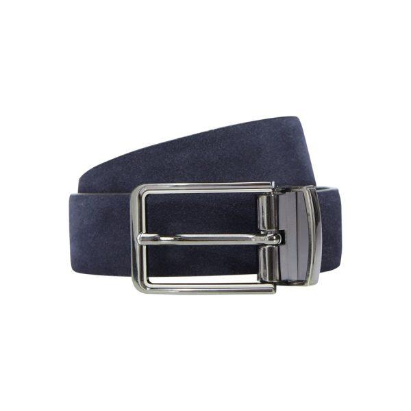 Fashion 4 Men - yd. Tuscan Suede Dress Belt Navy/Black 30