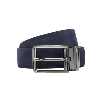 Fashion 4 Men - yd. Tuscan Suede Dress Belt Navy/Black 36