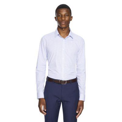 Fashion 4 Men - yd. Winston Slim Fit Dress Shirt Blue Xs