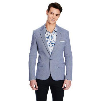 Fashion 4 Men - yd. Zappa Stretch Blazer Blue 3 Xs