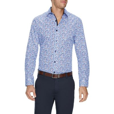 Fashion 4 Men - Tarocash Deacon Slim Floral Shirt White S