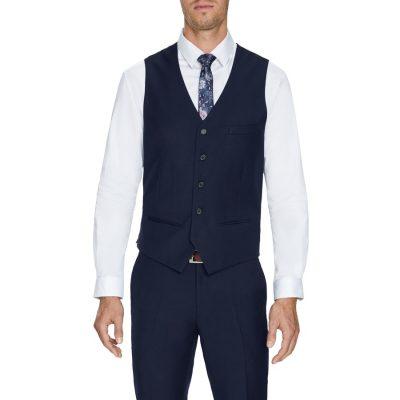 Fashion 4 Men - Tarocash Dylan Waistcoat Navy Xs