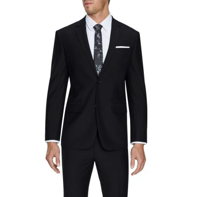 Fashion 4 Men - Tarocash Liam Slim Stretch 2 Button Suit Black 38