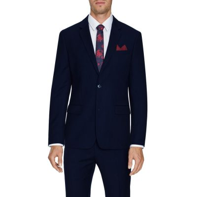 Fashion 4 Men - Tarocash Louis Stretch 2 Button Suit Navy 38