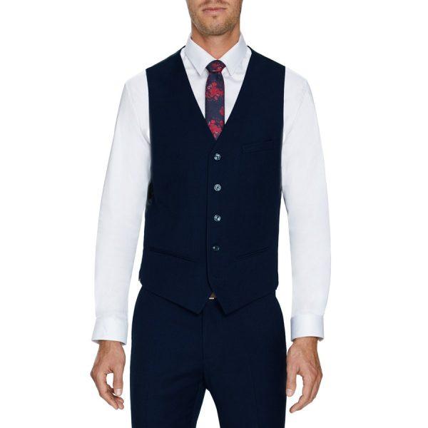 Fashion 4 Men - Tarocash Louis Stretch Waistcoat Navy M