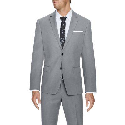 Fashion 4 Men - Tarocash Pierce Stretch 2 Button Suit Silver 36