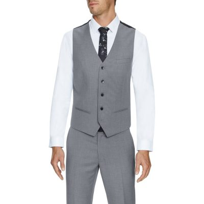Fashion 4 Men - Tarocash Pierce Stretch Waistcoat Silver 5 Xl