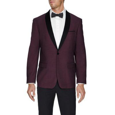 Fashion 4 Men - Tarocash Roxbury Shawl Tuxedo Jacket Burgundy Xl