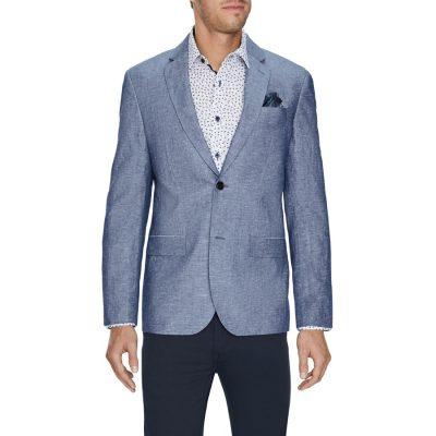 Fashion 4 Men - Tarocash Ventura Linen Blend Blazer Blue Xl