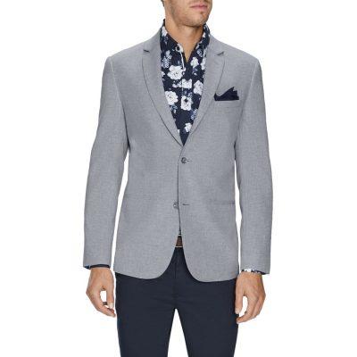 Fashion 4 Men - Tarocash Wilson Linen Blend Blazer Grey Xl
