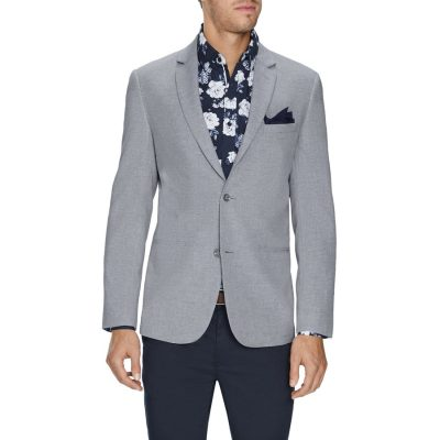 Fashion 4 Men - Tarocash Wilson Linen Blend Blazer Grey Xxl