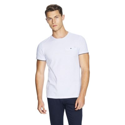 Fashion 4 Men - yd. Apsley Tee Blue 2 Xs