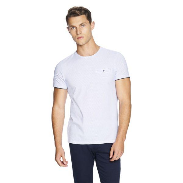 Fashion 4 Men - yd. Apsley Tee Blue 2 Xs