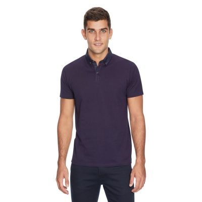 Fashion 4 Men - yd. Coledale Geo Polo Navy 2 Xl
