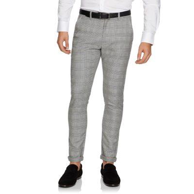 Fashion 4 Men - yd. Derby Skinny Chino Black/White Check 30