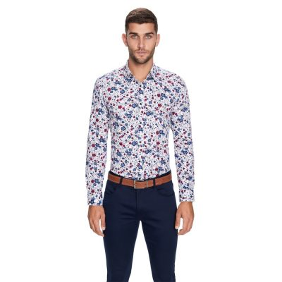 Fashion 4 Men - yd. Eden Floral Slim Fit Shirt Multi M
