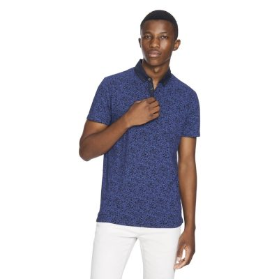 Fashion 4 Men - yd. Elvis Paisley Polo Navy Xl