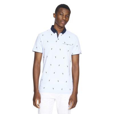 Fashion 4 Men - yd. Grenfell Polo Light Blue 2 Xl