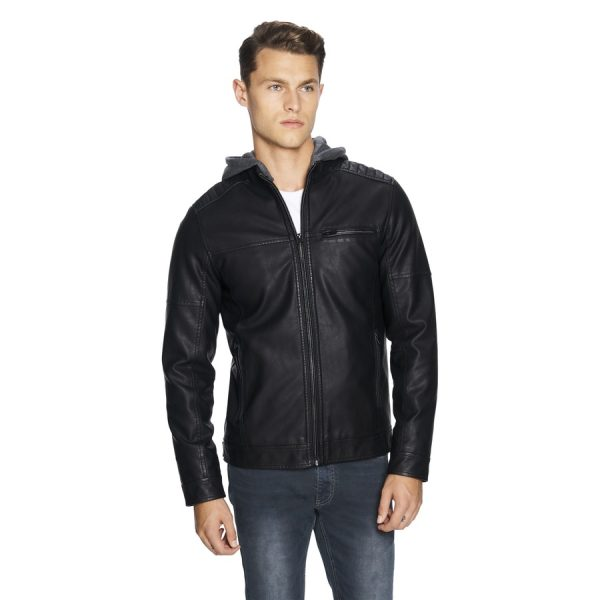 Fashion 4 Men - yd. Hooded Cassan Biker Jacket Black Xxl