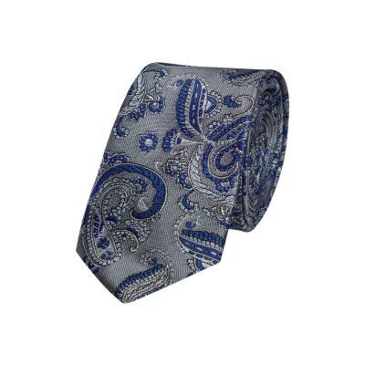 Fashion 4 Men - yd. Hudson Paisley 6.5 Cm Tie Silver One