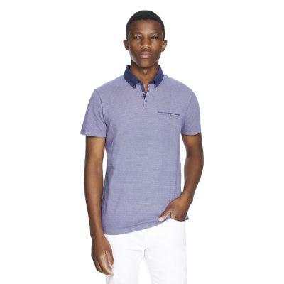 Fashion 4 Men - yd. Kansas Polo Blue 2 Xl