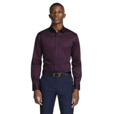 Fashion 4 Men - yd. Mission Slim Fit Dress Shirt Berry 3 Xs