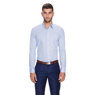 Fashion 4 Men - yd. Penn Slim Fit Dress Shirt Blue 2 Xs