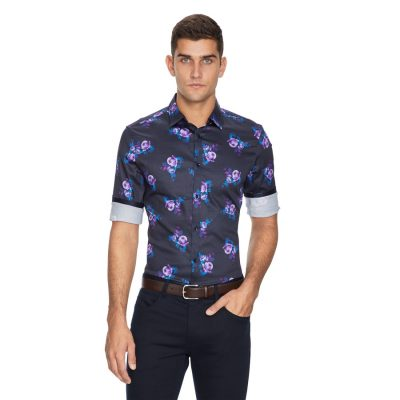 Fashion 4 Men - yd. Stalley Slim Fit Shirt Multi 2 Xs