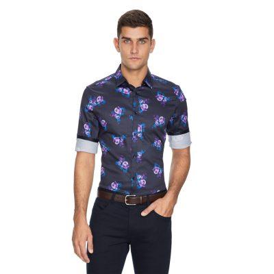 Fashion 4 Men - yd. Stalley Slim Fit Shirt Multi S