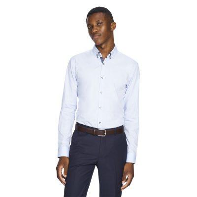 Fashion 4 Men - yd. Tank Slim Fit Dress Shirt Light Blue Xxl