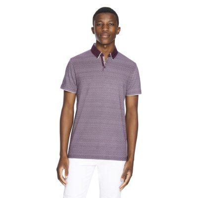 Fashion 4 Men - yd. Terry Tile Polo Berry M