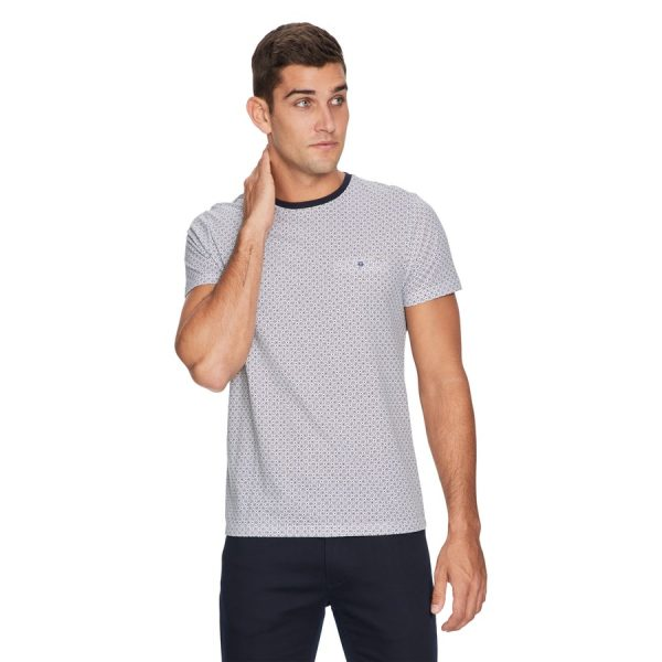 Fashion 4 Men - yd. Tile Tee Dark Blue L