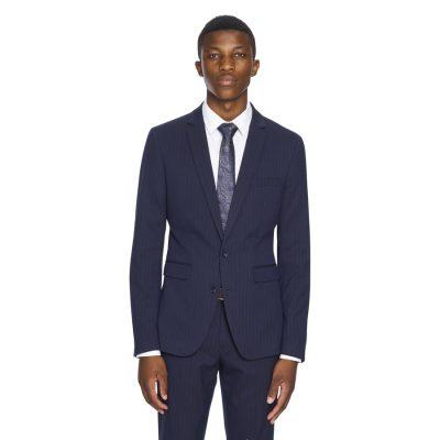 Fashion 4 Men - yd. Toby Skinny Pinstripe Suit Jacket Navy 36