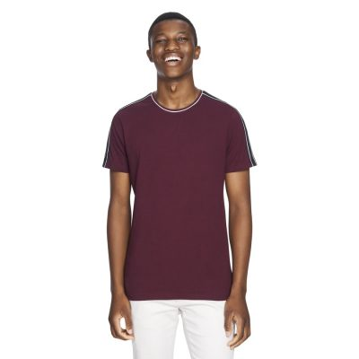 Fashion 4 Men - yd. Tyler Tape Tee Burgundy S