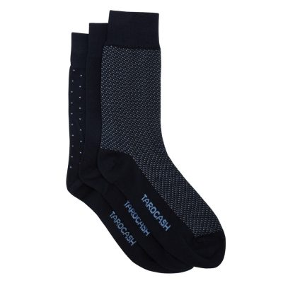 Fashion 4 Men - Tarocash 3 Pack Pattern Socks Blue 1