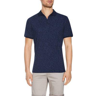 Fashion 4 Men - Tarocash Amalfi Paisley Polo Navy L