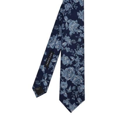 Fashion 4 Men - Tarocash Austin Floral Textured Tie Navy 1