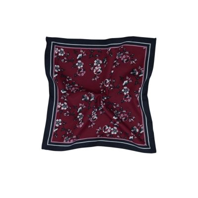 Fashion 4 Men - Tarocash Austin Pocket Square Burgundy 1