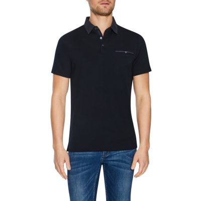 Fashion 4 Men - Tarocash Capri Modal Polo Black S