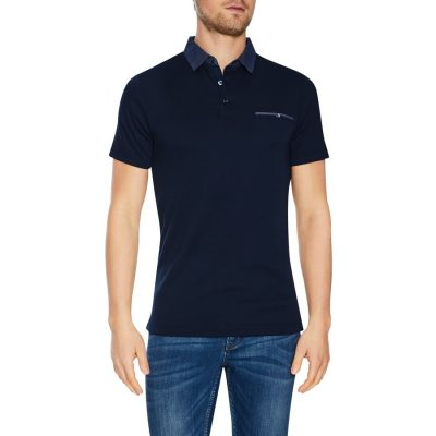 Fashion 4 Men - Tarocash Capri Modal Polo Navy S