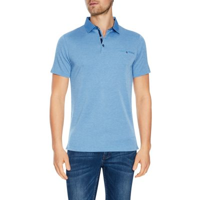 Fashion 4 Men - Tarocash Capri Modal Polo Sky Marle L