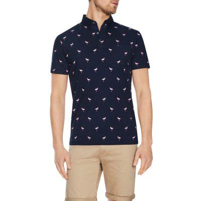 Fashion 4 Men - Tarocash Corfu Flamingo Polo Navy Xl