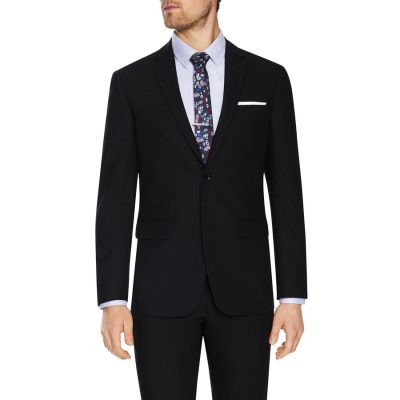 Fashion 4 Men - Tarocash Don Textured 2 Button Suit Black 40