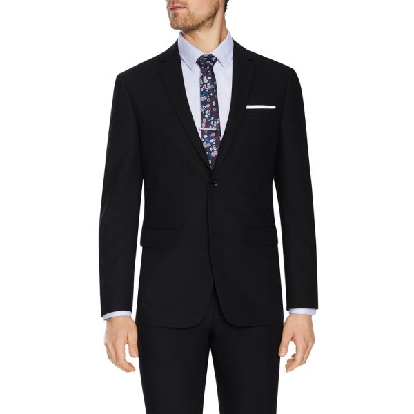 Fashion 4 Men - Tarocash Don Textured 2 Button Suit Black 50