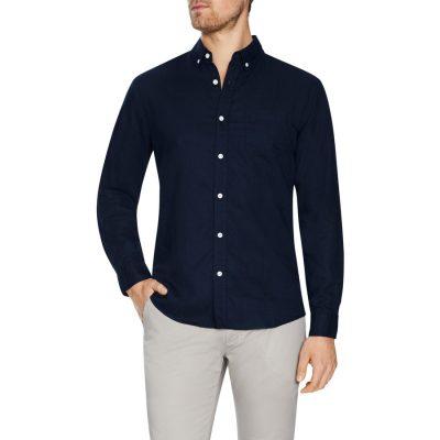 Fashion 4 Men - Tarocash Elliott Linen Blend Shirt Midnight S