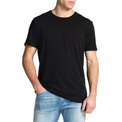 Fashion 4 Men - Tarocash Essential Crew Neck Tee Black Xs