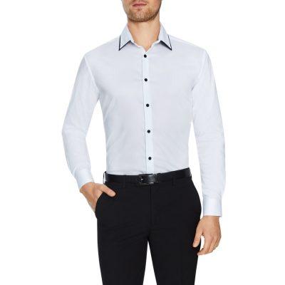 Fashion 4 Men - Tarocash Gaspar Slim Stretch Dress Shirt White L