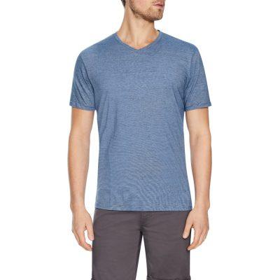Fashion 4 Men - Tarocash Kraft Stripe V Neck Tee Blue Xs