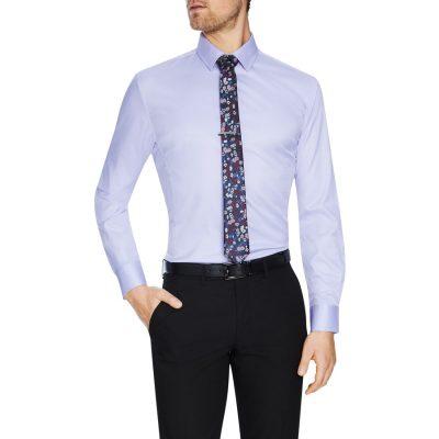 Fashion 4 Men - Tarocash Linton Stretch Non Iron Shirt Lilac 5 Xl