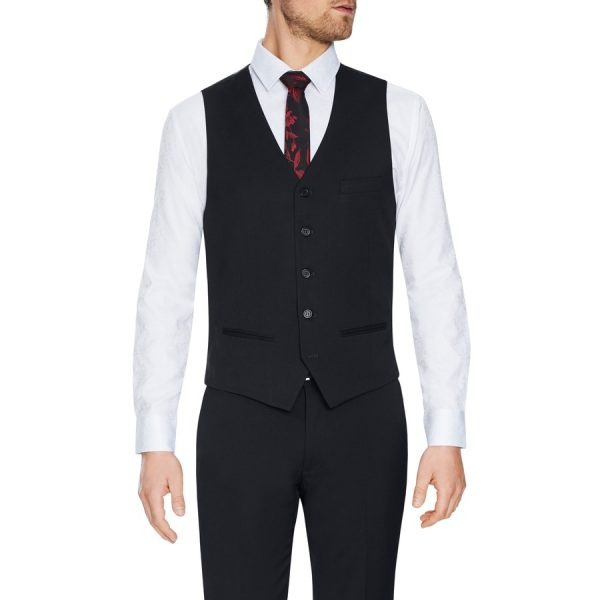 Fashion 4 Men - Tarocash Lynch Stretch Waistcoat Charcoal M